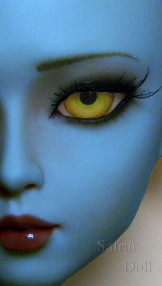 Safrin Resin Basics - Na'vi Bold - Made to Order - Doll Eyes Widowmaker, Yellow Eyes, Doll Eyes, Doll Crafts, Full Moon, Bjd, Sculpting, Creepy, Barbie