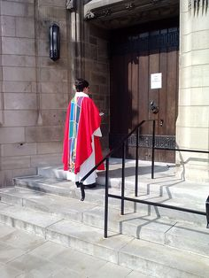Presiding Bishop-elect Elizabeth A. Eaton awaits to be welcomed into Rockefeller Chapel to be installed as the fourth presiding bishop of the ELCA. To learn more about the ELCA or to find an ELCA congregation go to ELCA.org