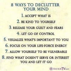 Declutter mind