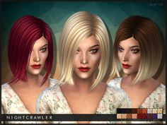 AF Hair 01 by Nightcrawler Sims at TSR via Sims 4 Updates