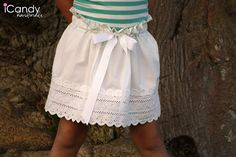 DIY pillowcase skirt with a sweet paperbag ruffle waistband
