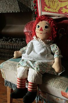 1970s Huge Raggedy Ann doll...good size to sew & sew dresses for toddler size clothing....