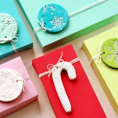 Give any gift a homemade feel with easy and fun-to-make clay gift tags.