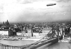 Graf Zeppelin flies over Budapest, Hungary, 1931 Old Pictures, Old Photos, Vintage Photos, Zeppelin, Nostalgia, History Photos, Interesting History, Historical Pictures, Homeland