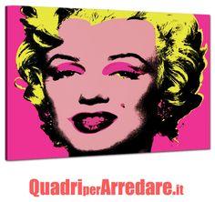 #Quadro #Marilyn Monroe Pop Art Tela canvas con telaio in legno L'arredamento con #immagini degli spazi che viviamo tutti i giorni http://www.quadriperarredare.it/shop/quadro-astratto-copy/