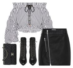 """""""For The First Time"""" by amazeinstyle ❤ liked on Polyvore featuring Caroline Constas, Yves Saint Laurent and Chanel"""