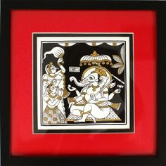 Classic Ganesha Phad Art - This ancient art form gets a modern makeover with contemporary strokes featuring Lord Ganesha in his playful state. Phad Painting, Indian Folk Art, Lord Ganesha, Indian Gods, Online Painting, Online Gallery, Ancient Art, Art Forms, Contemporary