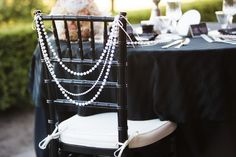black, white, and blush, 1920s wedding inspiration from Arlene Chambers Photography and EVENTful Moments