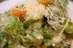 Food | Fabulous Caesar Salad ~ best salad in the world! Q. Do you know who invented the beloved Caesar salad?   A. If you're not sure, you're not alone. There are several theories regarding its origin. Most people believe the salad was born... #delicious