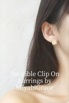 ✨Clear clip on earrings are totally pierced look and comfortable! These are 8 hours wearable clip on earrings! Available at MiyabiGrace. #etsy #jewelry #earrings #RhinestoneClipOnEarrings #minimalist #nonpierced #nopiercing #Accessories #metalallergy #cliponearrings #clipearrings #invisiblecliponearrings #metalfreeearrings #hypoallergenic #pretty #cliponstudearrings #comfortablecliponearrings #fashion #style #MiyabiGrace #omegaearrings #bridalclipearrings #prom #crystalearrings #crystal Crystal Earrings, Clip On Earrings, Stud Earrings, Gold Pearl, Ear Piercings, Compliments, 8 Hours, Pearls, Etsy Jewelry