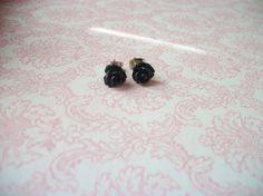 Hey, I found this really awesome Etsy listing at https://www.etsy.com/listing/171584825/handmade-black-rose-rosebud-small-tiny