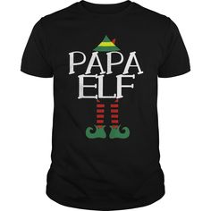 Papa Elf T Funny Christmas Party Ugly Sweater Grandpa