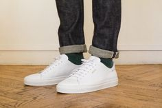 Baskets Blanches Axel Arigato #baskets #sneakers #clean #white #kicks #laces