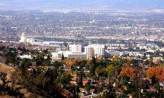 Loma Linda University Medical Center, California. Taken from hill top at Hulda  Crooks park