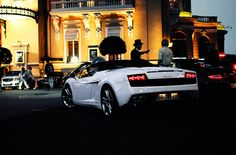 Beautiful White Glossy Lamborghini Gallardo at Monaco.