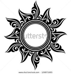 Abstract Sun Flower Tattoo Design