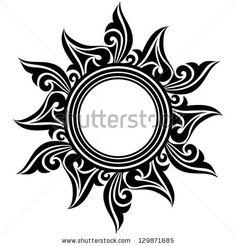 Abstract Sun Flower Tattoo Design