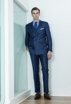 "Dark Navy Blue (double breasted) Classic Suit | Hmmmm ""I Like"
