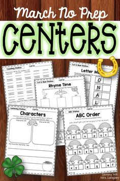 These no prep centers include weekly favorites like listening station response pages, ABC Centers, Phonics, Sight Words, Counting, Graphing, and more. Simplify your planning and get your students engaged at the same time!