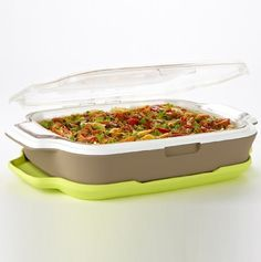 Fit & Fresh Gatherings 9x13 Hot/Cold Server with Insulated Carrier