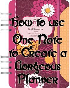 See how to make a gorgeous planner to use on your computer, iPad etc, using Microsoft One Note! http://radenbrea.com/Websites_and_Graphics/2015/04/10/how-to-use-one-note-to-create-a-gorgeous-planner/ #Planner #Blogging #Blog