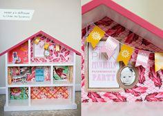 Casa de muñecas DIY: mucha originalidad y utilización de cosas que todos tenemos en casa. Más fotos e ideas en http://www.casahaus.net/category/proyectos-diy/#