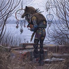 Simon Stålenhag Art Gallery. post-apocalyptic robots taking care of the nature.