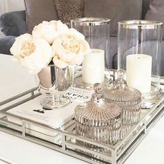 Every detail counts when decorating your home. More about pulling - When decorating your home, every detail counts. More about drawing living room table decor – Livi - Coffee Table Styling, Decorating Coffee Tables, Living Room Designs, Living Room Decor, Bedroom Decor, Living Rooms, Coffee Table Decor Living Room, Coffee Table Candle Decor, Mirror Tray