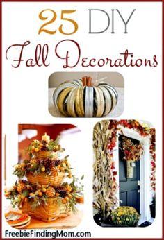 25 DIY Fall Decorati