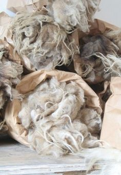Raw form of wool