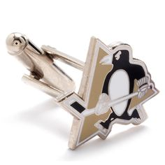 Pittsburgh Penguins NHL Logod Executive Cufflinks w/Jewelry Box