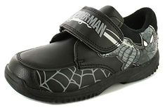 4f51d33d248f Spiderman New Boys Childrens Black Touch Fastening School Shoes. -  BlackGrey - UK Sizes 1-13  Amazon.co.uk  Shoes   Bags