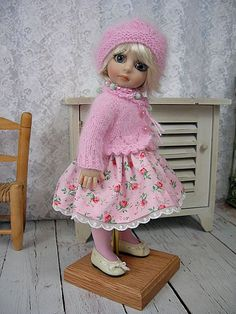 "Angora, Roses, Outfit for Robert Tonner Patsy, Ann Estelle, 10"" made by Ulla"