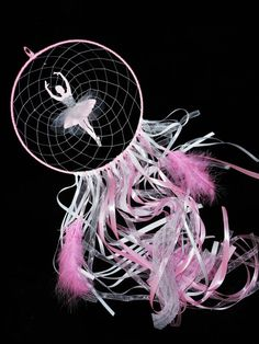 Ballerina dream catcher ballet dream catcher pink baby pink nursery dance