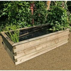 Raised Wooden Fish Pond Youtube Outdoor Projects