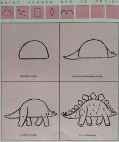 Dino 2 leren tekenen