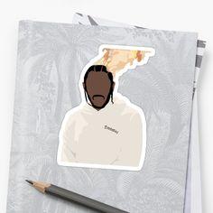 'Kendrick Lamar - On Fire' Sticker by granttron Kendrick Lamar Art, Phone Cases, Stickers, Artwork, Work Of Art, Auguste Rodin Artwork, Artworks, Illustrators, Decals
