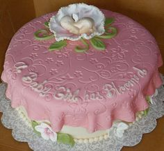 babyshower cakes for a girl | ... : Bakery Showcase » Celebration Cakes » Girl Baby Shower cake