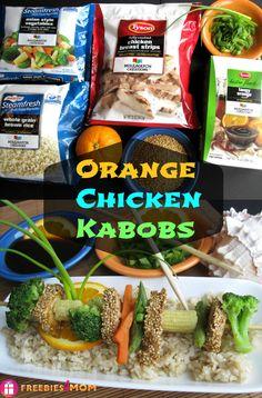 #ad Super Simple Orange Chicken Kabobs in 15 minutes!!!