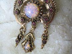 Victorian vintage brooch 1950's Opal Harlequin by LIvintageNY, $35.00