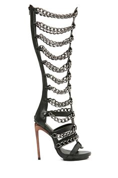 Privileged Vunk Chained Gladiator in Shoes Heels Open Toe at Nasty Gal