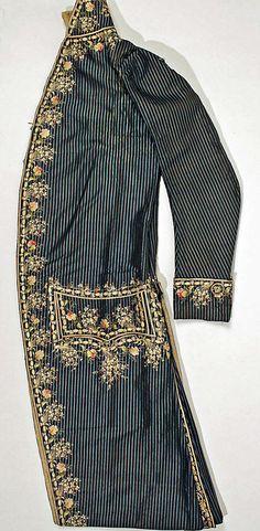 Frockcoat, fourth quarter of 18th century, French, silk. (c) Metropolitan Museum of Art