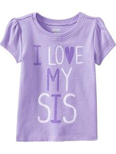 """I Love My Sis"" Tees for Baby 