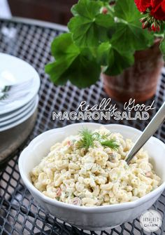 Really Good Macaroni Salad | Inspired by Charm.  I think I'll substitute the sweet pickles and pickle juice for dill pickles/juice.  more savory but with the hint of sweet.