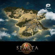 Global Map. Sparta: War Of Empires. , Olga Skrynnik on ArtStation at https://www.artstation.com/artwork/dR8dX