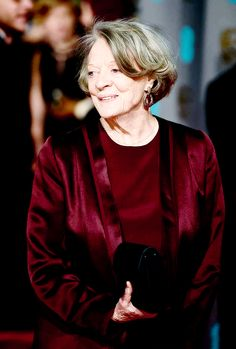 Downton Abbey's Maggie Smith arrives at the EE BAFTA Film Awards (14th February, 2016)..