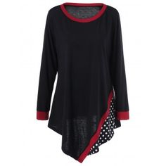 SHARE & Get it FREE | Plus Size Polka Dot Asymmetric Tunic T-ShirtFor Fashion Lovers only:80,000+ Items·FREE SHIPPING Join Dresslily: Get YOUR $50 NOW!