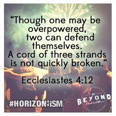 Ecclesiastes 4:12 #verseoftheweek #horizonhsm