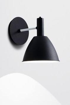 Bauhaus 90W applique métal laqué noir. Lumini.
