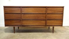 Seattle: mid century 9 drawer DRESSER/CREDENZA $375 - http://furnishlyst.com/listings/1197312
